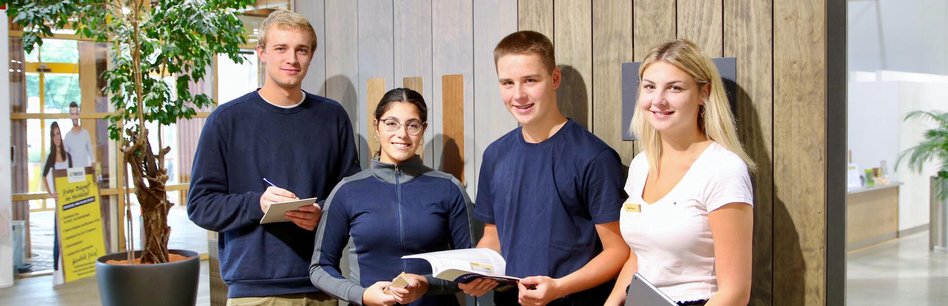 Vier unterschiedliche Ausbildungsberufe bei Leyendecker HolzLand in Trier